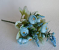 Ранункулюсов букет блакитний