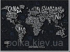 Скретч Карта Мира LETTERS World