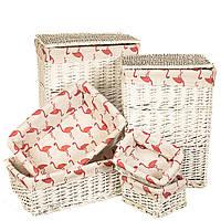 """Набор корзин для белья """"Фламинго"""" 6 шт 060PV"""
