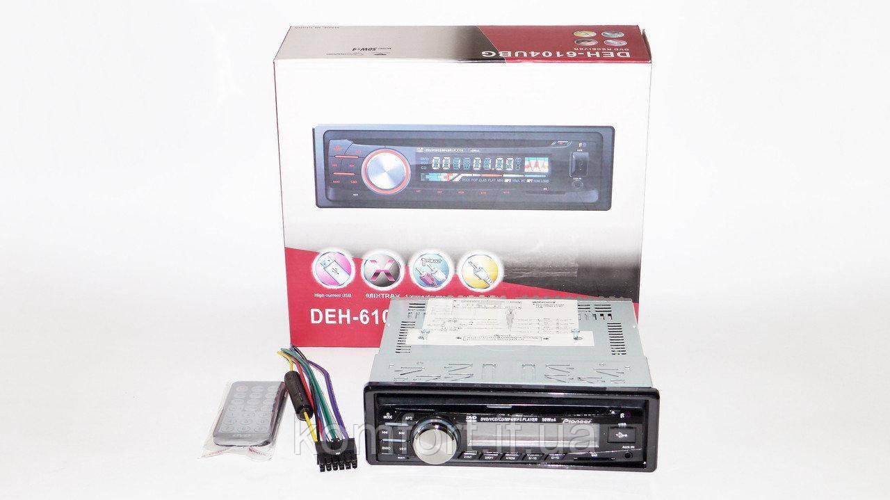 Автомагнитола 1DIN DEH-6104UBG DVD магнитола + USB+SD+AUX+FM