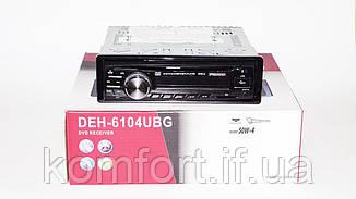 Автомагнитола 1DIN DEH-6104UBG DVD магнитола + USB+SD+AUX+FM, фото 3