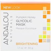 Andalou Naturals, Гликолевая маска, с тыквой и медом, осветляющая (50 мл)