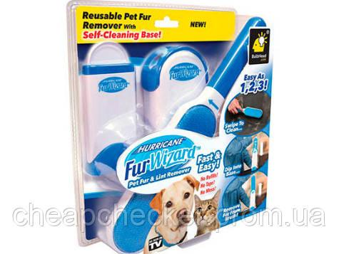 Самоочищающаяся Щетка От Шерсти Животных Reusable Pet Fur Wizard Remover White