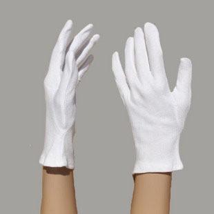 """Перчатки для официантов белые хлопчатобумажные, размер """"S"""" женская рука, Польские"""