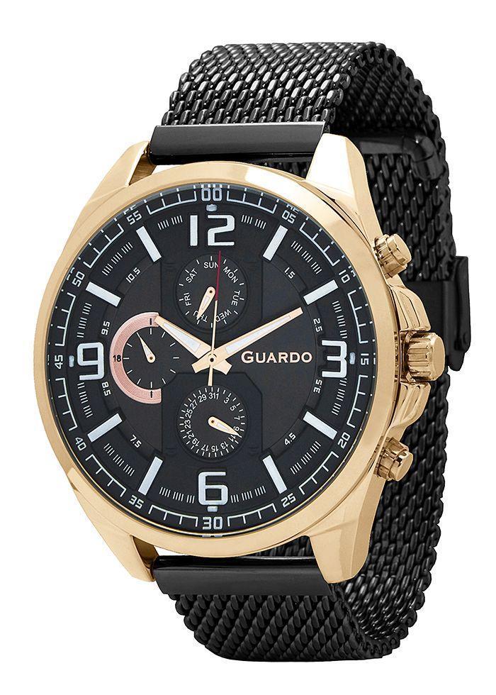 Часы мужские Guardo B01361(1)-5 золотые