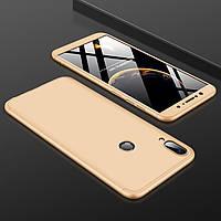 Чехол GKK 360 для Asus ZenFone Max Pro (M1) / ZB601KL / ZB602KL x00td бампер оригинальный Gold