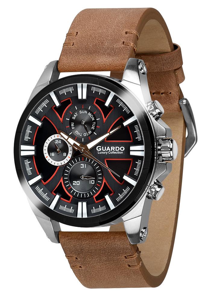 Часы мужские Guardo S1631-6 серебряные