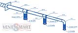 Соединитель вентиляционный настенный для круглых воздуховодов ПЛАСТИВЕНТ, фото 4