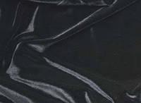 Стрейч-бархат гладкий черный