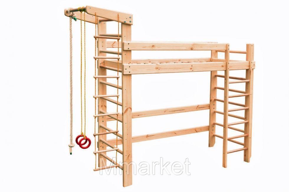 Спортивная кровать чердак Babygrai