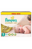Подгузники Pampers Premium Care DRY MAX new Junior 5 (11-25кг.) MEGA PACK 88шт.