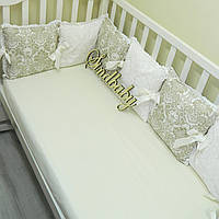 Бортики подушки, комплект «Дамаск»