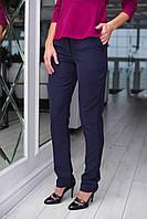 Элегантные женское облегающие брюки с боковыми карманами (в темных тонах). Арт-2588/64