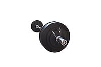 Штанга обрезиненная 145 кг с олимпийским грифом 220 см