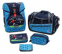 Рюкзак Deuter OneTwoSet - Sneaker Bag  с набором школьных принадлежностей (Синий Футбол navy soccer)