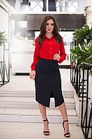 Облегающая женская юбка карандаш с разрезом спереди. Арт-2589/64