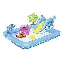 Надувной игровой центр Bestway 53052 «Аквариум» с горкой и с игрушками, фото 1