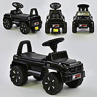 Машина-толокар V-10009 JOY, цвет черный, русское озвучивание, световые эффекты, багажник