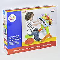 Детский синтезатор 669 со стульчиком, звук, свет
