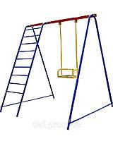 Качели одноместные +лестница. Игровой комплекс.