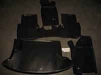 Коврики резиновые +багажник 5шт CHEVROLET Niva