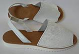 Стиляшки! Женские кожаные сандалии испанка! Летние босоножки менорки белого цвета, фото 2