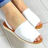 Стиляшки! Женские кожаные сандалии испанка! Летние босоножки менорки белого цвета, фото 3
