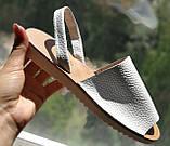 Стиляшки! Женские кожаные сандалии испанка! Летние босоножки менорки белого цвета, фото 6