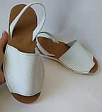 Стиляшки! Женские кожаные сандалии испанка! Летние босоножки менорки белого цвета, фото 7