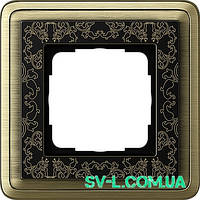 Рамка 1 пост Gira ClassiX Art 0211662 бронза-черный.