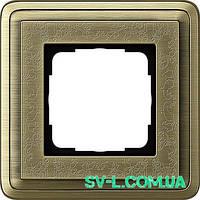 Рамка 1 пост Gira ClassiX Art 0211661 бронза.
