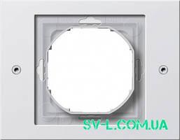 Установочная рамка 1-местн. 021166 белый.