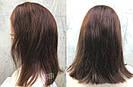 Коричневый парик из натуральных волос удлинённое каре на сетке. На большую голову, фото 3