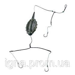 Карповый монтаж 3 крючка 50г KM-037 (100шт)