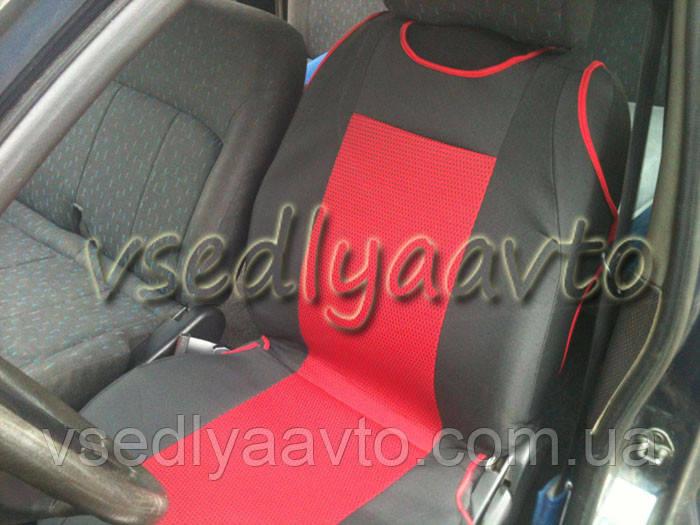 Майки черно-красные на сидение авто (2 шт.)