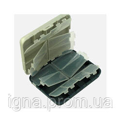 Коробка рыболовная двойная 16отд. 12*10*3.5см AQT-2416 (150шт)
