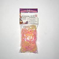 Набор резиночек для плетения Bandz Loom Maker 300шт. (светло-розовый, светло-желтый, розово-фиолетовый)
