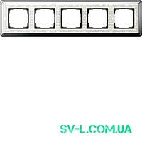 Рамка 5 постов Gira ClassiX Art 0215683 хром-кремовый.