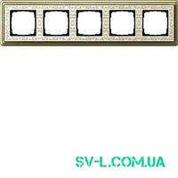Рамка 5 постов Gira ClassiX Art 0215663 бронза-кремовый.