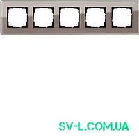 Рамка 5 постов Gira Esprit 0215522 Glass C дымчатое стекло.