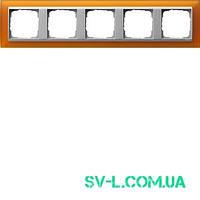 Рамка 5 постов алюминий Gira Event Opaque 021569 янтарный.