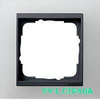 Рамка 1 пост антрацит Gira Event Opaque 021124 белый матовый.