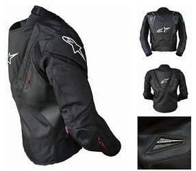 Защитная текстильная мотокуртка с подстежкой и с аэрогорбом Alpinestars
