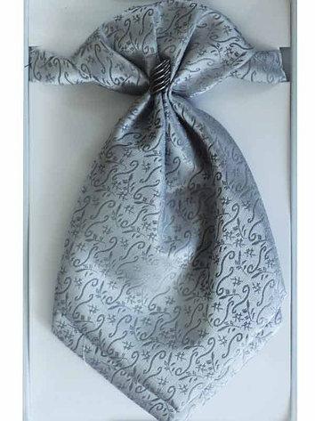 Дитяча широка краватка-пластрон  з хусткою в кишеню сірий