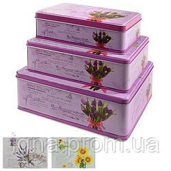 Коробка металл для хранения 3пр/наб 22*16*9см/20*13*7см/28*10*6см R82481 (24наб)
