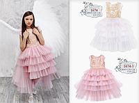 Платье из праздничной коллекции Моне (пудра) р-ры 116
