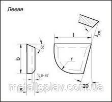 Пластины для подрезных и расточных резцов при расточке глухих отверстий (ГОСТ 25397-90)