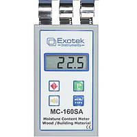 Влагомер древесины и стройматериалов Exotek MC-160SA (0-98%) 230 пород, 6 групп стройматериалов. Германия