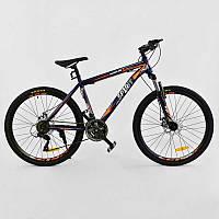 """Велосипед Спортивный CORSO SPIRIT 26""""дюймов JYT 001 - 7894 BLUE-ORANGE (1) рама металлическая, 21 скорость, собран на 75%"""
