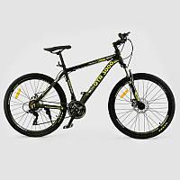 """Велосипед Спортивный CORSO GTR-3000 26""""дюймов JYT 003 - 3280 GREEN-YELLOW (1) рама алюминиевая, 21 скорость, собран на 75%"""